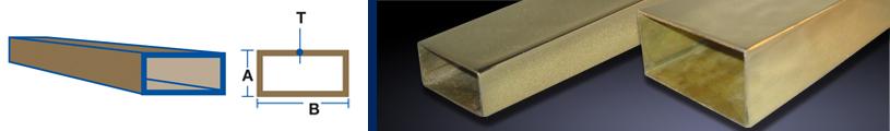 Rectangular Bronze Tubing